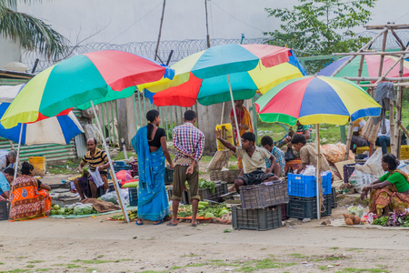 KOLKATA, INDIA - OCTOBER 30, 2016: Vegetable market in Kolkata, India