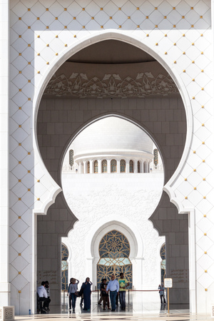 ABU DHABI, UAE - MARCH 9, 2017: Sheikh Zayed Grand Mosque in Abu Dhabi, United Arab Emirates