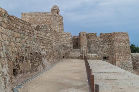 Fortification walls of Bahrain Fort (Qalat al-Bahrain) in Bahrain