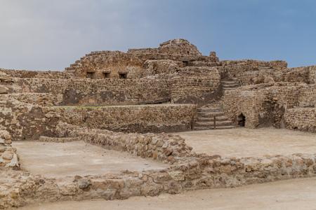 Ruins of Bahrain Fort (Qalat al-Bahrain) in Bahrain