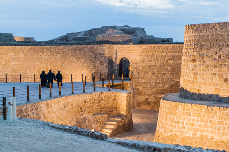 Local women visit Bahrain Fort (Qalat al-Bahrain) in Bahrain Editorial