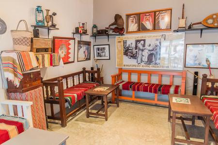 MUHARRAQ, BAHRAIN - MARCH 14, 2017: Interior of Bu Khalaf Coffe Shop in Muharraq, Bahrain