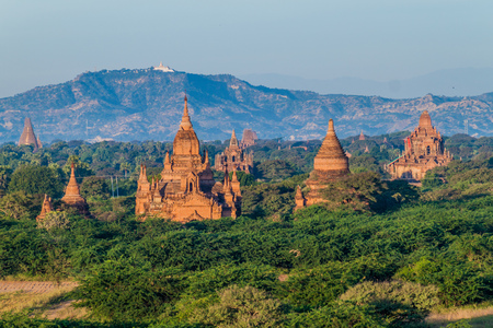Skyline of temples in Bagan, Myanmar