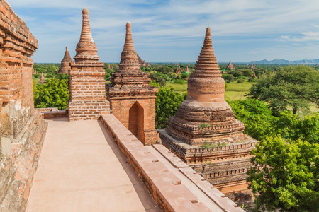 View from Law Ka Ou Shaung temple in Bagan, Myanmar
