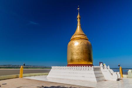 Stupa in Bupaya temple in Bagan, Myanmar Banco de Imagens