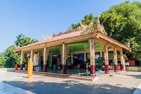 BAGAN, MYANMAR - DEC 6, 2016: Bupaya temple in Bagan, Myanmar