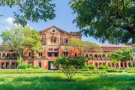 Ministers Office building in Yangon, Myanmar Stock Photo