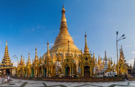 YANGON, MYANMAR - DECEMBER 16, 2016: Shwedagon Paya Pagoda in Yangon, Myanmar