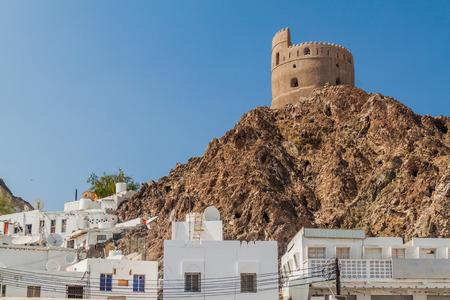 Watchtower in Muttrah neighborhood in Muscat, Oman 版權商用圖片