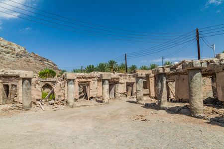 Ruins of an old Souq in Ibra Old Quarter, Oman