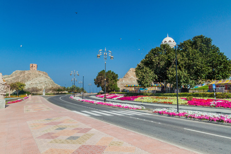 Al Bahri road in Muscat, Oman