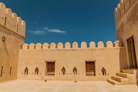Walls of Al Ayjah Fort in Sur, Oman