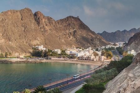 Kalbuh Bay in Muscat, Oman Stock Photo