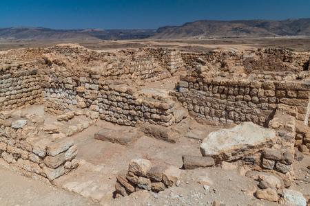 Sumhuram Archaeological Park with ruins of ancient town Khor Rori near Salalah, Oman Stock fotó