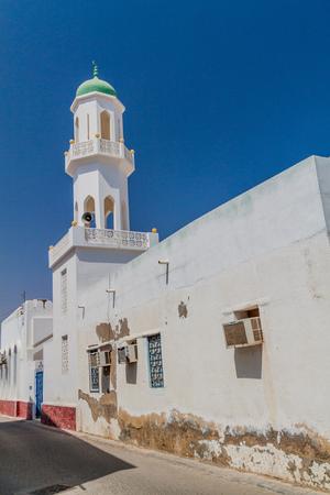 Minaret of a mosque in Sur town, Oman
