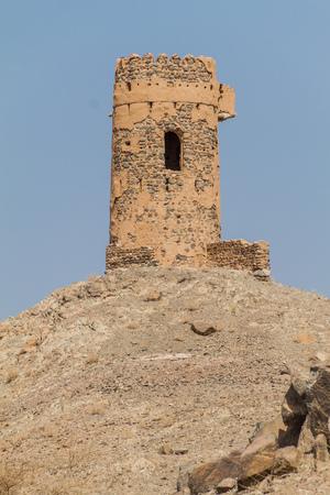 Hilltop watchtower near Ibra, Oman Reklamní fotografie