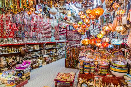 Shop in Muttrah souq in Muscat, Oman