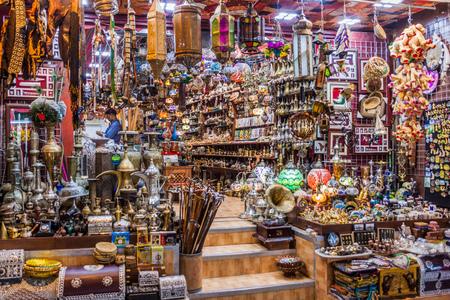 MUSCAT, OMAN - FEBRUARY 23, 2017: Shop of Muttrah souq in Muscat, Oman