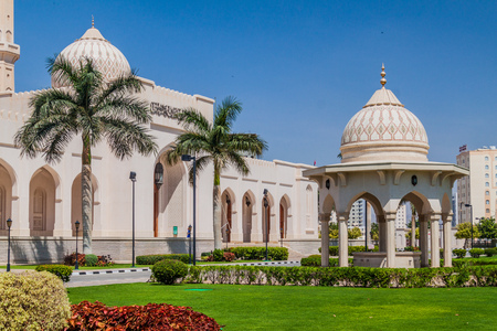 Garden of Sultan Qaboos Mosque in Salalah, Oman