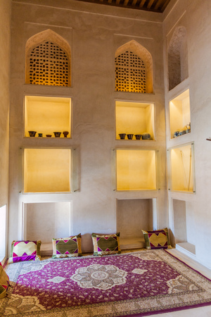 JABRIN, OMAN - MARCH 2, 2017: One of rooms in the Jabrin Castle, Oman