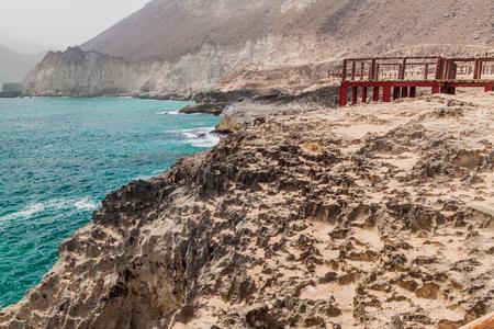Cliffs at Mughsail, Oman Фото со стока