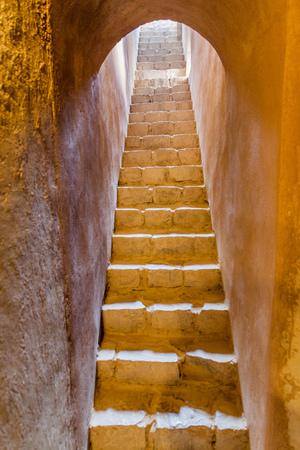Stairway at Bahla Fort, Oman Stok Fotoğraf