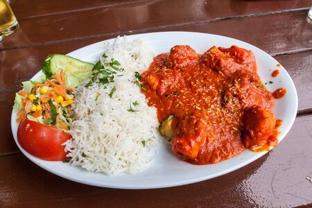 Indian cuisine - dish of Chicken vindaloo