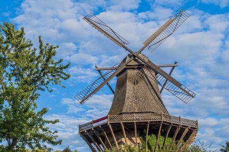 Historic Mill in Sanssouci park in Potsdam, Germany Stock Photo
