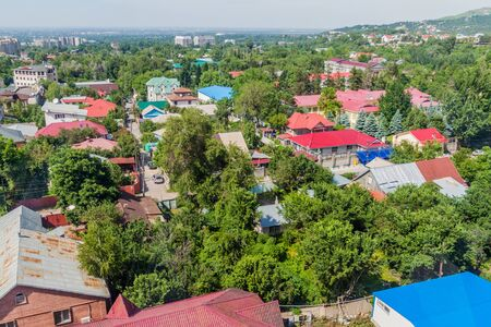 Aerial view of Almaty suburbs, Kazakhstan