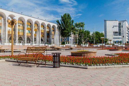 View of Ala Too square in Bishkek, capital of Kyrgyzstan.