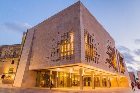 New Parliament Building in Valletta, capital of Malta 版權商用圖片