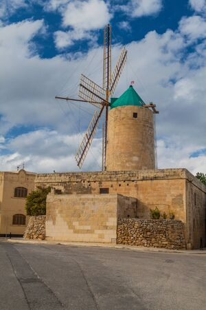 Ta' Kola Windmill in Xaghra village on Gozo island, Malta