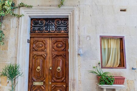 Typical house entrance in Birgu, Malta
