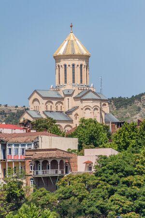 Holy Trinity Cathedral of Tbilisi, Georgia Stok Fotoğraf