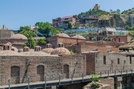 Cupolas of bathhouses in the Old town of Tbilisi, Georgia Reklamní fotografie