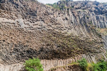 Basalt column formation called Symphony of the Stones along Garni gorge, Armenia