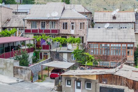 View of houses in Akhaltsikhe town, Georgia