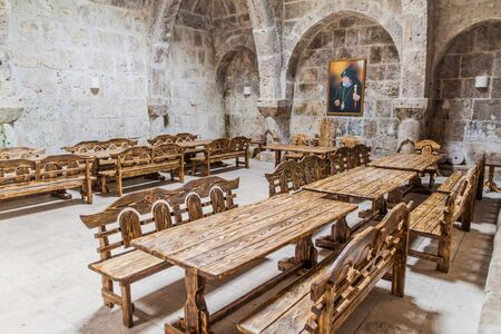 Refectory of Haghartsin monastery in Armenia Stockfoto - 131950021