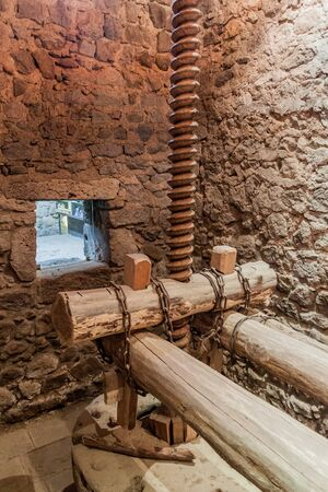 Old oil press of Tatev monastery, Armenia Stock fotó