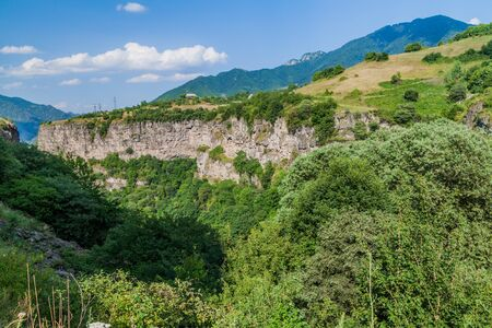 Rims of Debed canyon in Armenia