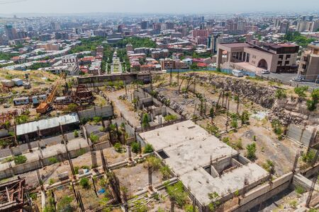 Abandoned  construction site at the top of the Cascade complex in Yerevan, Armenia Reklamní fotografie