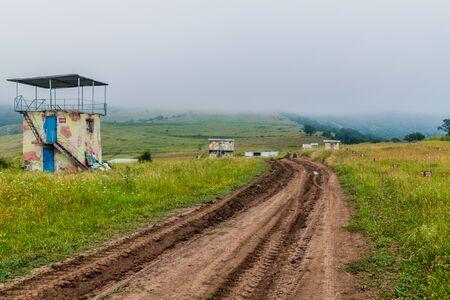 Military training grounds near Dilijan in Armenia