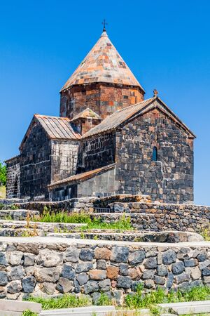 Sevanavank monastery on the coast of Sevan lake, Armenia