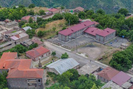 Village Halidzor above Vorotan river valley, Armenia.