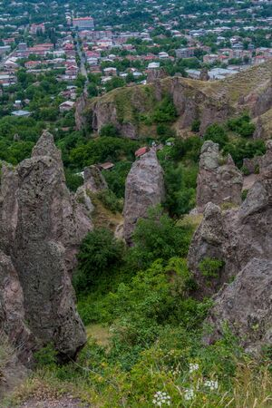 Rocky landscape near Goris town, Armenia