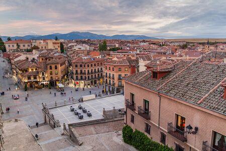 SEGOVIA, SPAIN - OCTOBER 20, 2017: Skyline of the old town of Segovia, Spain Фото со стока