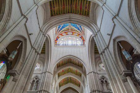 Interior of Almudena Cathedral in Madrid, Spain Reklamní fotografie