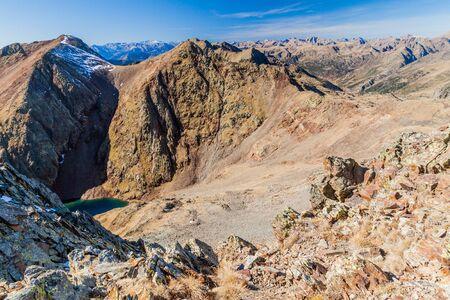 Mountains of Parc Natural Comunal de les Valls del Comapedrosa national park in Andorra