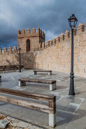 Fortification walls of the old town in Avila, Spain. Reklamní fotografie