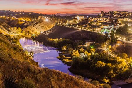 Evening view of the old town of Toledo, Spain